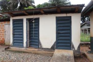 The Water Project: Lungi, Mahera, Mahera Health Clinic -  Health Center Latrine