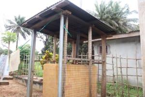 The Water Project: Lungi, Mahera, Mahera Health Clinic -  Incinerator At Health Center