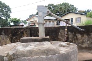 The Water Project: Lungi, Mahera, Mahera Health Clinic -  Well In Need Of Rehabilitation
