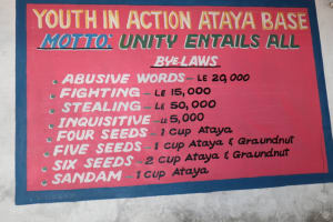 The Water Project: Lungi, Mahera, Mahera Health Clinic -  Notice Board At Attayah Base