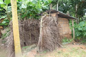 The Water Project: Lungi, Rosint, #26 Old Town Road -  Latrine And Bath Shelter