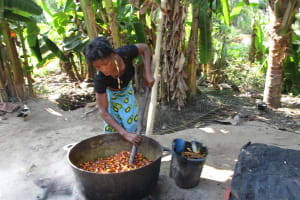 The Water Project: Lungi, Rosint, #26 Old Town Road -  Woman Processing Palm Oil