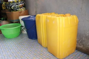 The Water Project: Lungi, New York, Robis, #7 Masata Lane -  Water Storage Containers