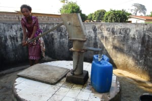 The Water Project: Lungi, New London, #10 Dankama Street -  Girl Collecting Water