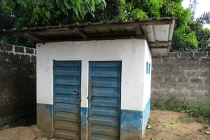 The Water Project: Lungi, Madina, St. Mary's Junior Secondary School -  Latrine For School Staff