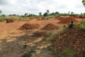 The Water Project: Lungi, Madina, St. Mary's Junior Secondary School -  Stone Mining Around School Area