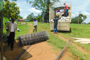 The Water Project: Kapkures Primary School -  Construction Materials Delivered To School