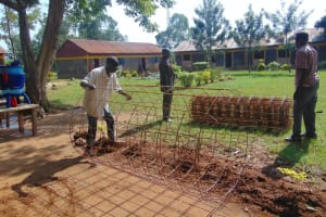 The Water Project: Nanganda Primary School -  Preparing Construction Materials