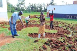 The Water Project: Ebulonga Mixed Secondary School -  Rain Tank Excavation Begins