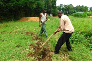 The Water Project: Kapkures Primary School -  Clearing Rain Tank Site