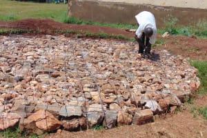 The Water Project: Kakamega Muslim Primary School -  Setting Rain Tank Foundation