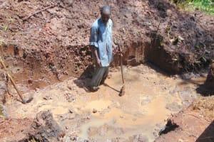 The Water Project: Masuveni Community, Masuveni Spring -  Excavation Underway