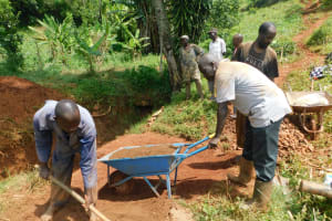 The Water Project: Emulembo Community, Gideon Spring -  Preparing Materials