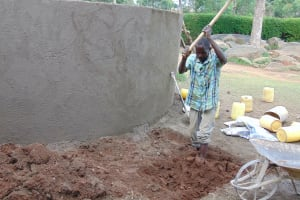 The Water Project: Banja Primary School -  Digging Access Area And Soak Pit