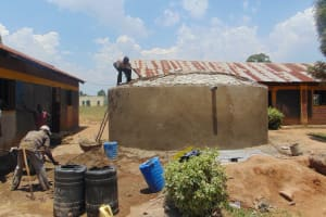 The Water Project: Nanganda Primary School -  Dome Construction