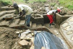 The Water Project: Sambaka Community, Sambaka Spring -  Stair And Wall Cement Work