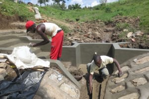 The Water Project: Sambaka Community, Sambaka Spring -  Shaping The Drainage Channel