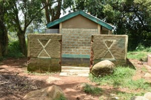 The Water Project: Makunga Secondary School -  Girls Latrines