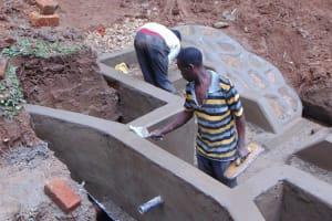 The Water Project: Bumira Community, Madegwa Spring -  Cement Work