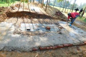The Water Project: Shichinji Primary School -  Latrine Foundation Construction