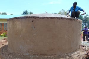 The Water Project: Demesi Primary School -  Plastering Dome