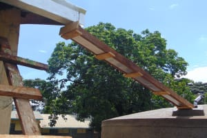 The Water Project: Kakamega Muslim Primary School -  Guttering In Place
