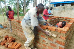 The Water Project: Shichinji Primary School -  Latrine Walls Take Shape
