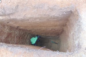 The Water Project: Nanganda Primary School -  Sinking A Latrine Pit By Hand