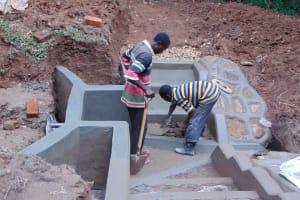 The Water Project: Bumira Community, Madegwa Spring -  Finishing The Stairs