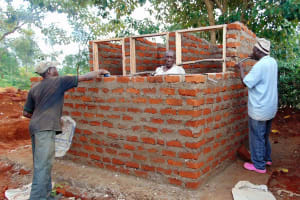 The Water Project: Ebulonga Mixed Secondary School -  Framing The Latrines