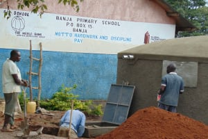 The Water Project: Banja Primary School -  Access Area And Soak Pit Work