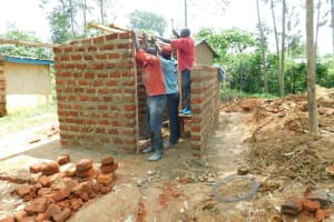 The Water Project: Shichinji Primary School -  Framing The Latrines