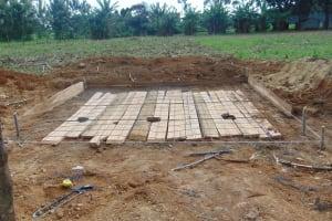 The Water Project: Nanganda Primary School -  Preparing A Latrine Foundation