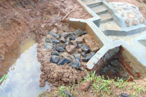 The Water Project: Munenga Community, Francis Were Spring -  Clay Works Before Backfilling