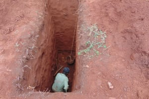The Water Project: Demesi Primary School -  Sinking The Latrine Pits By Hand