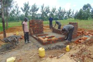 The Water Project: Nanganda Primary School -  Latrine Construction