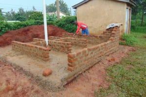The Water Project: Kakamega Muslim Primary School -  Latrines Taking Shape