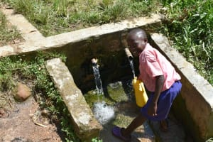 The Water Project: Eshimuli Primary School -  Student Collecting Water