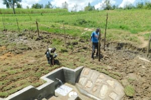 The Water Project: Sambaka Community, Sambaka Spring -  Fencing Around Spring