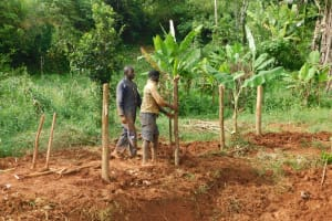 The Water Project: Emulembo Community, Gideon Spring -  Fencing