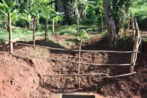 The Water Project: Emulembo Community, Gideon Spring -  Fencing Complete