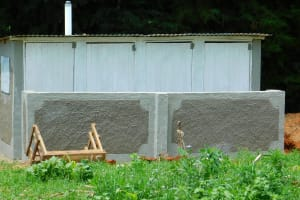 The Water Project: Kapkures Primary School -  Latrines Nearing Completion