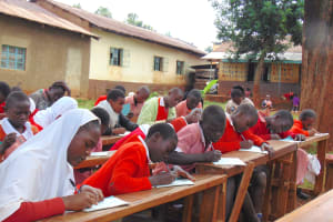The Water Project: Kakamega Muslim Primary School -  Students Taking Notes During Training