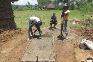 The Water Project: Sambaka Community, Sambaka Spring -  Sanitation Platform Construction