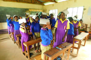 The Water Project: Kapkures Primary School -  Having Fun With A Game