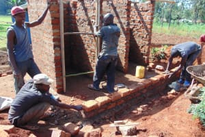 The Water Project: Demesi Primary School -  Framing The Latrines