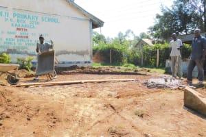 The Water Project: Shichinji Primary School -  Preparing The Rain Tank Foundation