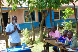The Water Project: Banja Primary School -  Facilitator Talks Solar Disinfection