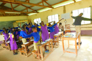 The Water Project: Kapkures Primary School -  Midday Stretch
