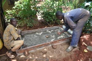 The Water Project: Emulembo Community, Gideon Spring -  Construction Of Sanitation Platform